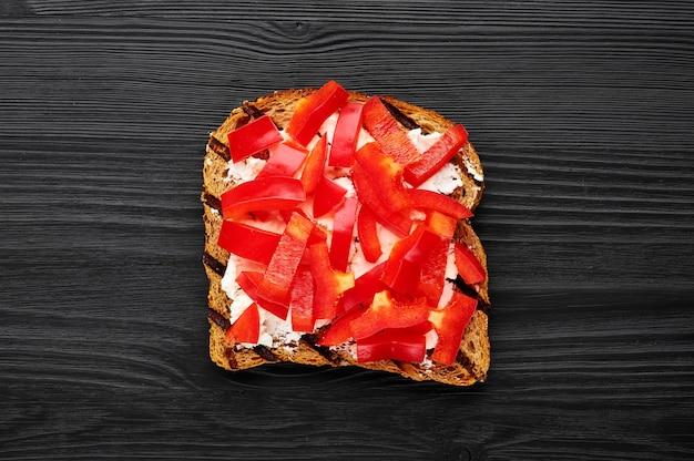 Broodjes groente met paprika