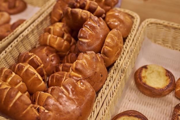 Broodjes met noten in de supermarkt