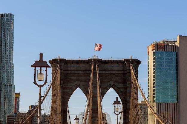 Brooklyn bridge, new york city, verenigde staten