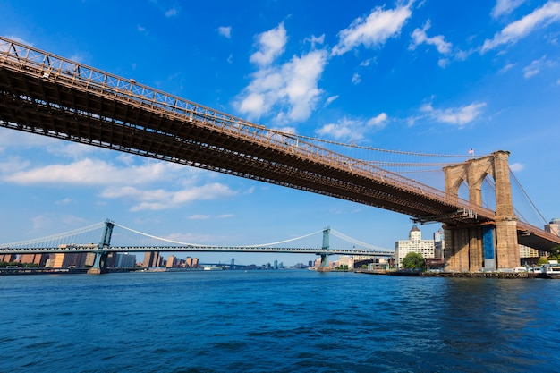 Brooklyn en manhattan overbruggen east river ny