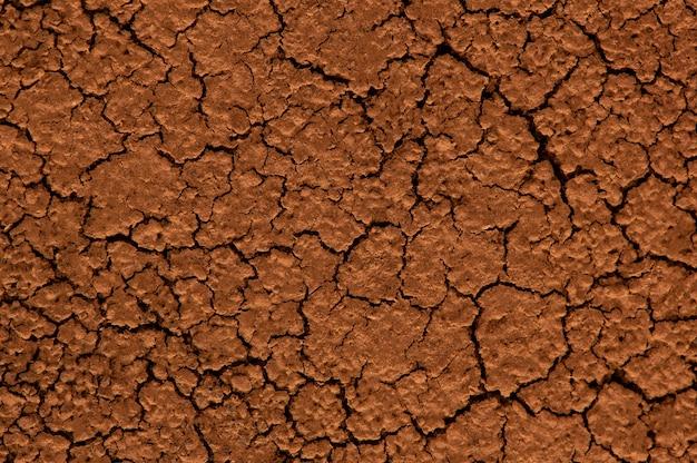 Brown gedroogde gebarsten grond.