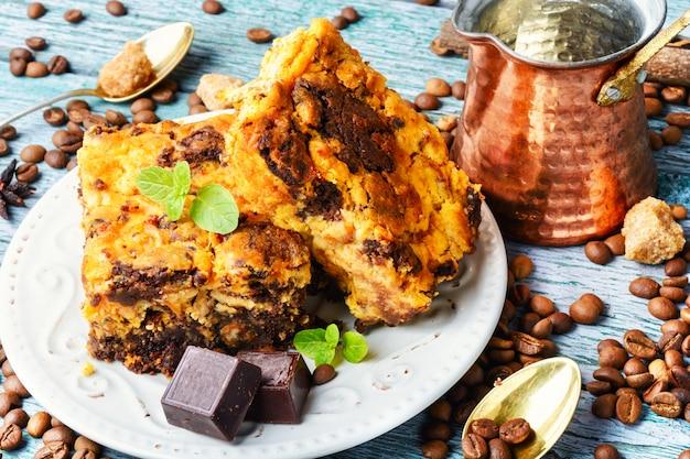 Brownie-chocoladetaart