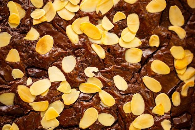 Brownies chocolade ingrediënt zoet dessert voor theetijd