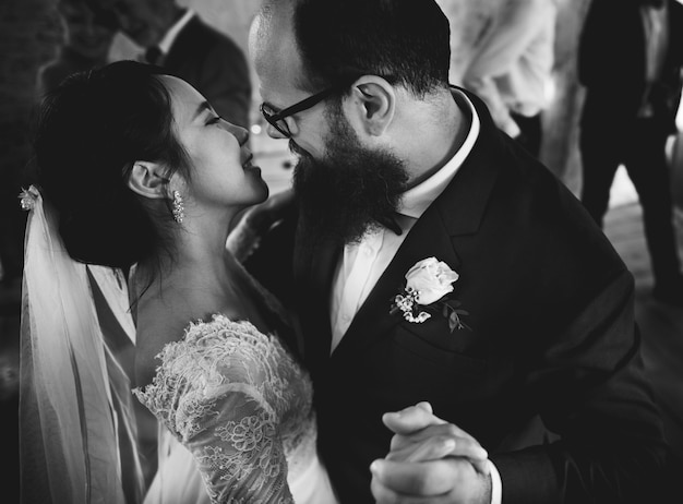 Brug en bruidegom huwelijksdag