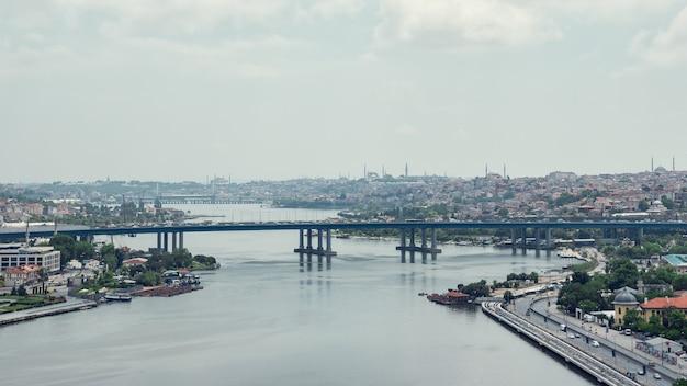 Brug over de bosporus in istanbul time-lapse video van turkije