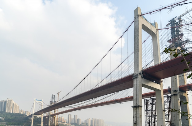 Bruggen in aanbouw in chongqing, china
