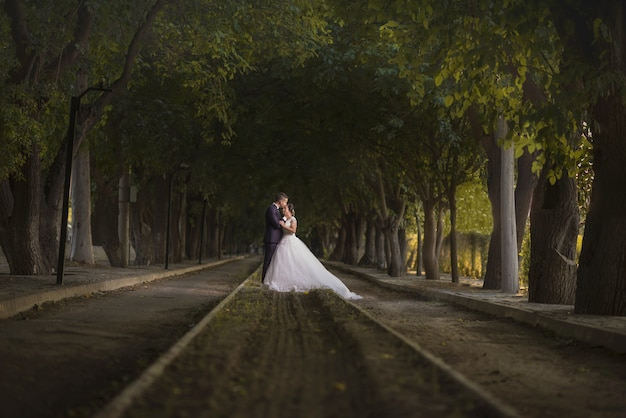 Bruid en bruidegom paar bruiloft