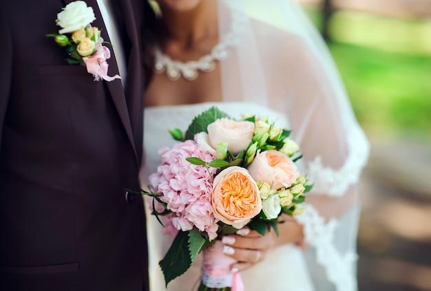 Bruid en bruidegom portret.