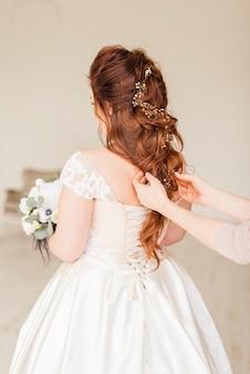 Bruid maakt zich klaar