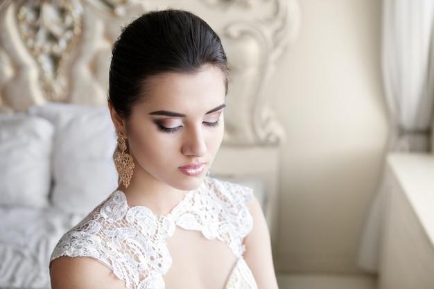 Bruid met de make-up