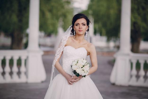 Bruid met een boeket