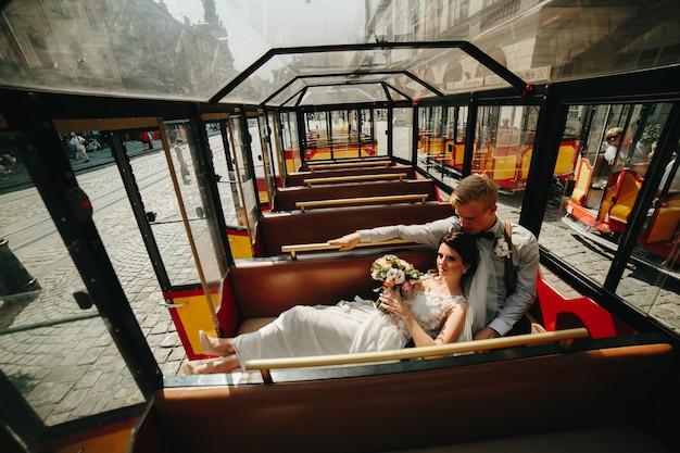 Bruid op bruidegom