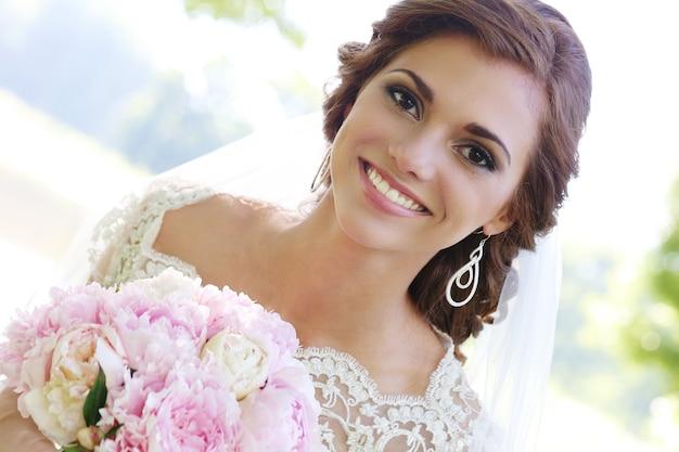 Bruid op de huwelijksdag