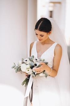 Bruid op haar trouwdag