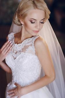Bruid poseren