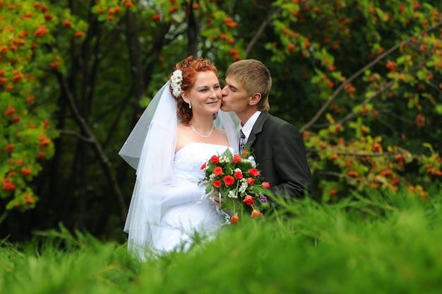 Bruidegom en bruid, gemeenschappelijk portret