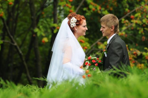 Bruidegom en bruid portret