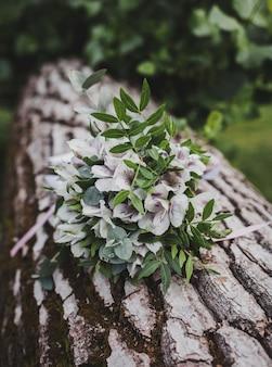 Bruids boeket. verse trouwbloemen