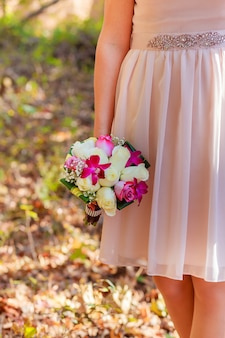 Bruidsboeket kleurrijke bruids