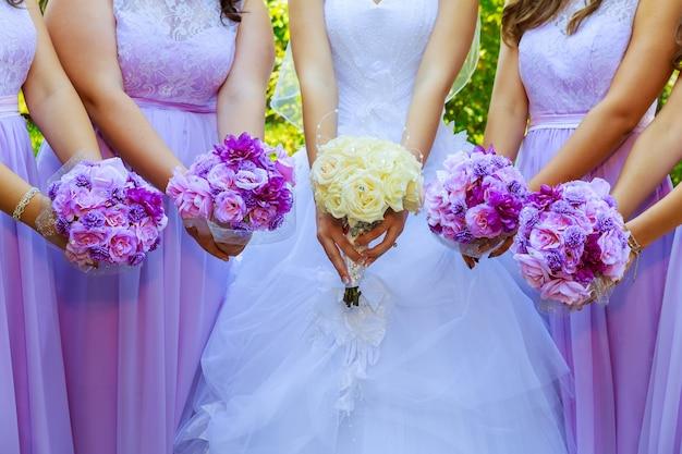 Bruidsboeket mooi, fris en kleurrijk bruidsboeket