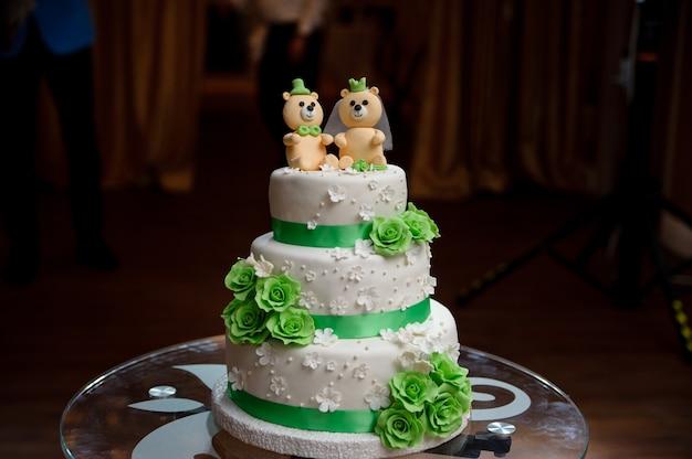 Bruidstaart met beren