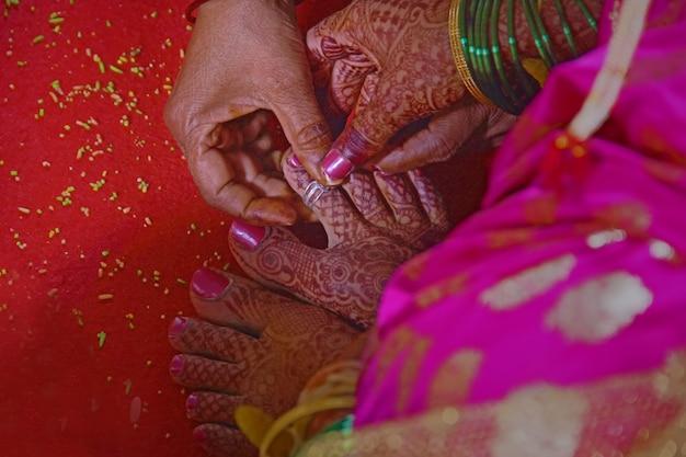Bruidvoet, indisch huwelijk