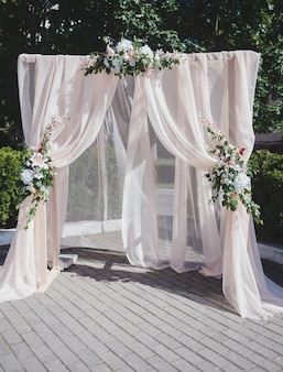 Bruiloft achtergrond met bloem