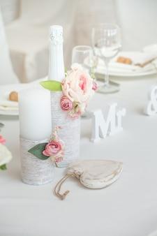 Bruiloft banket tafeldecoraties