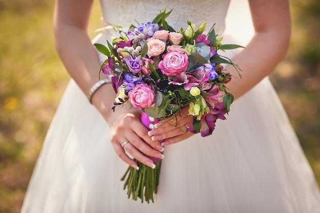 Bruiloft boeket close-up