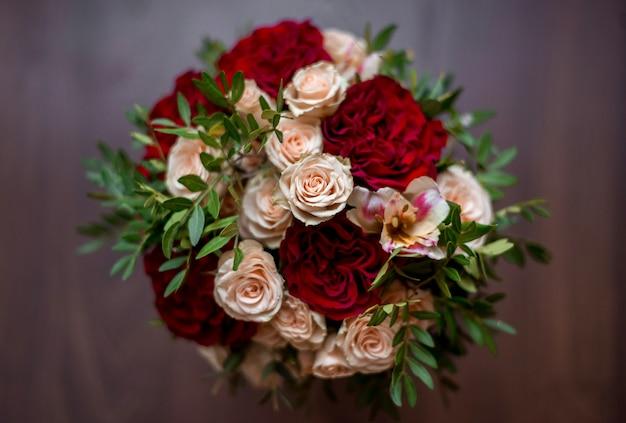 Bruiloft boeket rozen