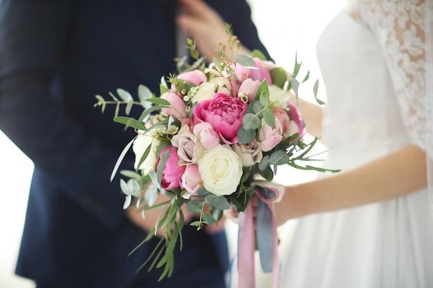 Bruiloft, bruid en bruidegom