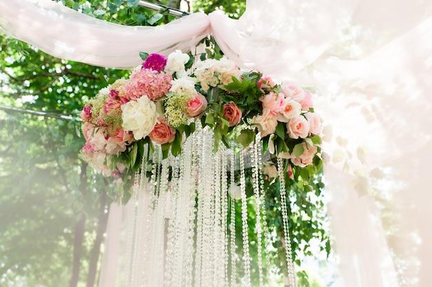 Bruiloft ceremonie decor