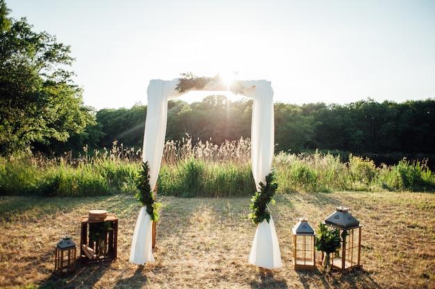Bruiloft ceremonie decoratie