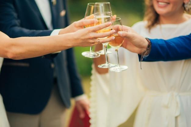 Bruiloft champagne bruiloft in montenegro
