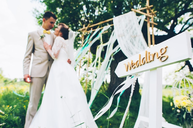 Bruiloft decor, aanwijzer