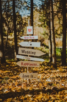 Bruiloft decor, wijzer