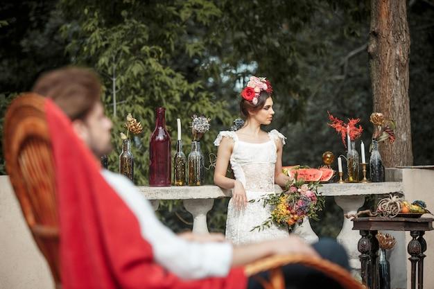 Bruiloft decoratie in de stijl van boho