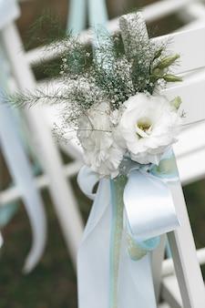 Bruiloft decoratie voor de ceremonie. huwelijksceremonie