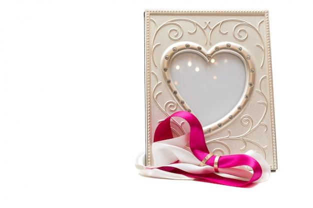 Bruiloft frame - geïsoleerd