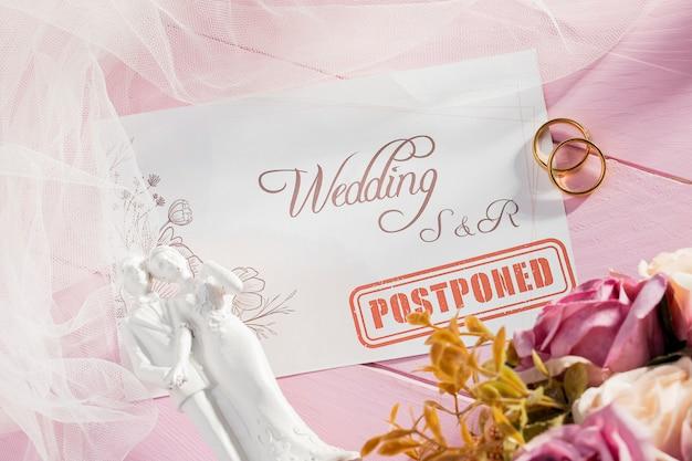 Bruiloft in de wacht vanwege covid19