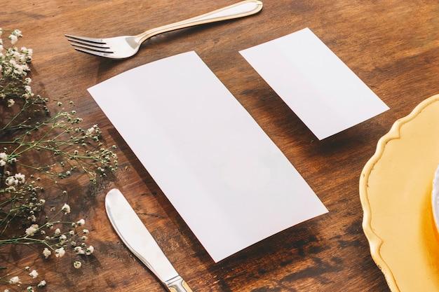 Bruiloft menu concept