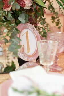 Bruiloft of evenemententafel.