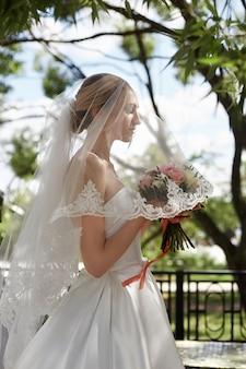 Bruiloft portret van een bruid