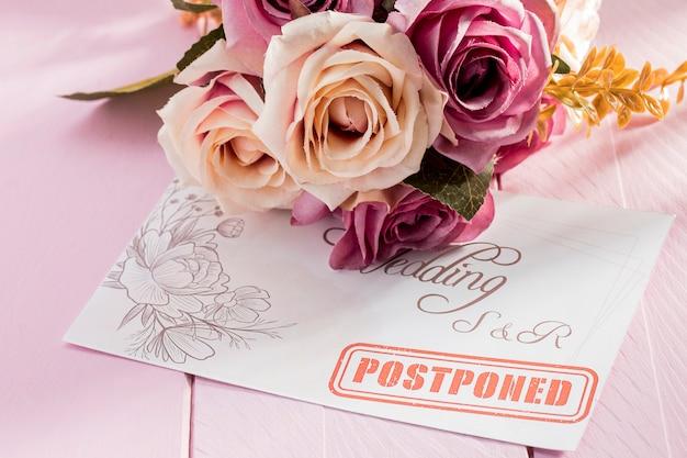Bruiloft uitgesteld vanwege coronavirus