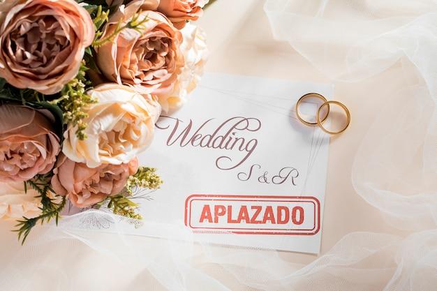 Bruiloft uitgesteld