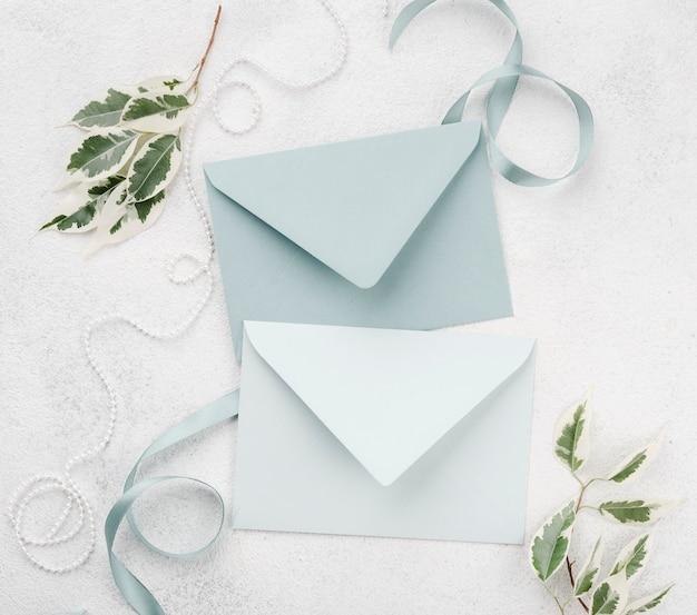Bruiloft uitnodiging enveloppen concept