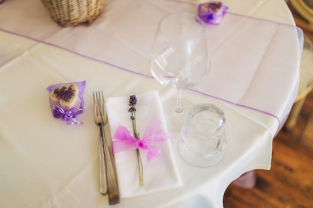 Bruiloftstafel bij een banket