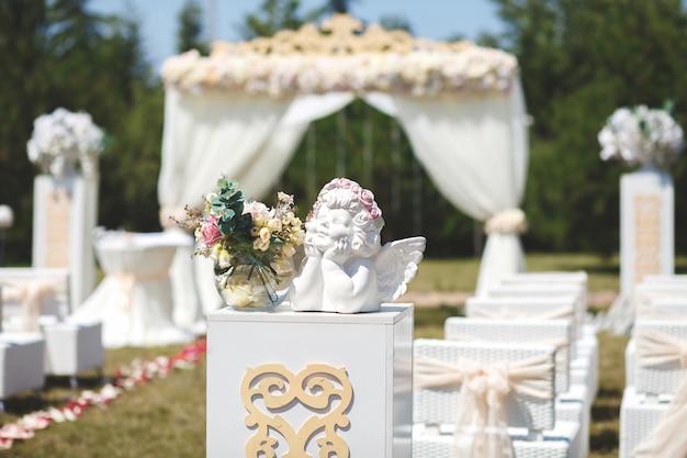 Bruiloftstent voor de ceremonie