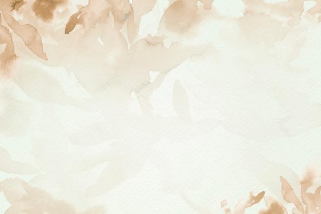 Bruin aquarel blad achtergrond esthetische herfst seizoen