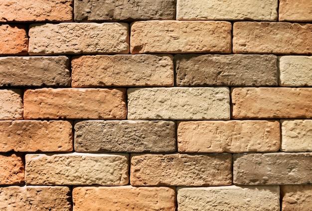 Bruin bakstenen muur gestructureerd behang